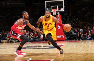 Kyrie Irving against John Walll