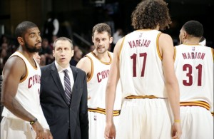 David Blatt coaching the Cleveland Cavaliers