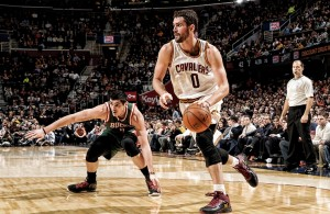 Kevin Love against the Milwaukee Bucks