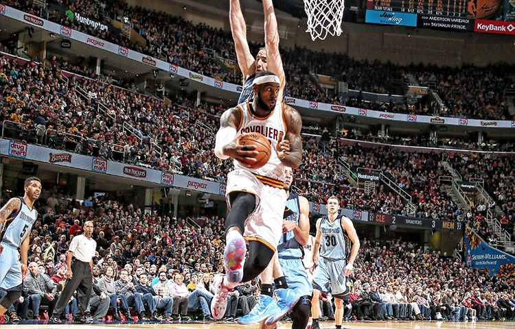 LeBron James against the Memphis Grizzlies