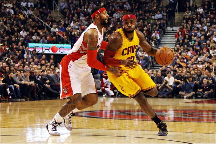 LeBron James vs. Toronto Raptors