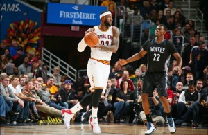 LeBron James against Andrew Wiggins