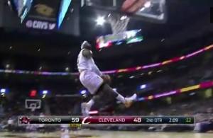 LeBron reverse dunk