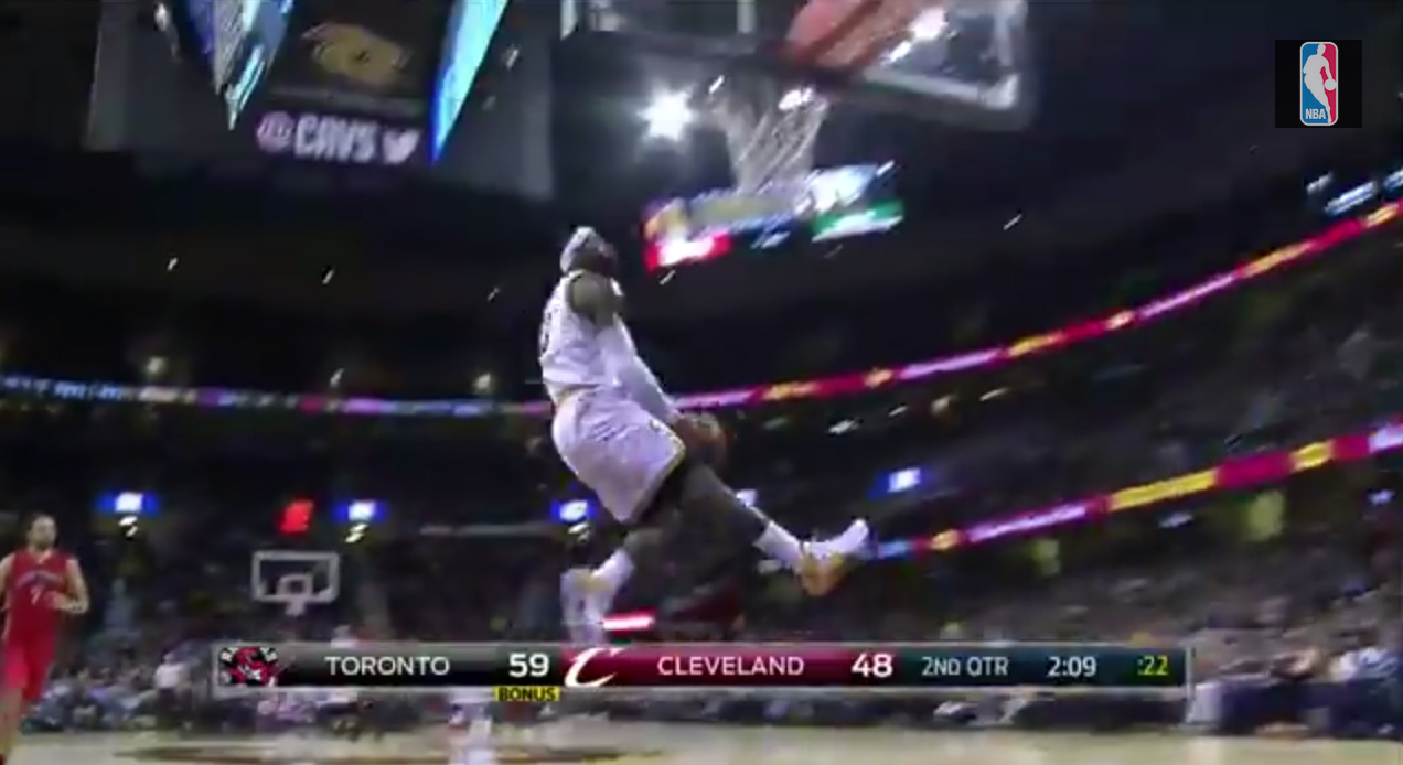 Video: LeBron Throws Down the Wicked Reverse | Cavaliers Nation