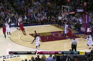 LeBron James hits the clutch triple