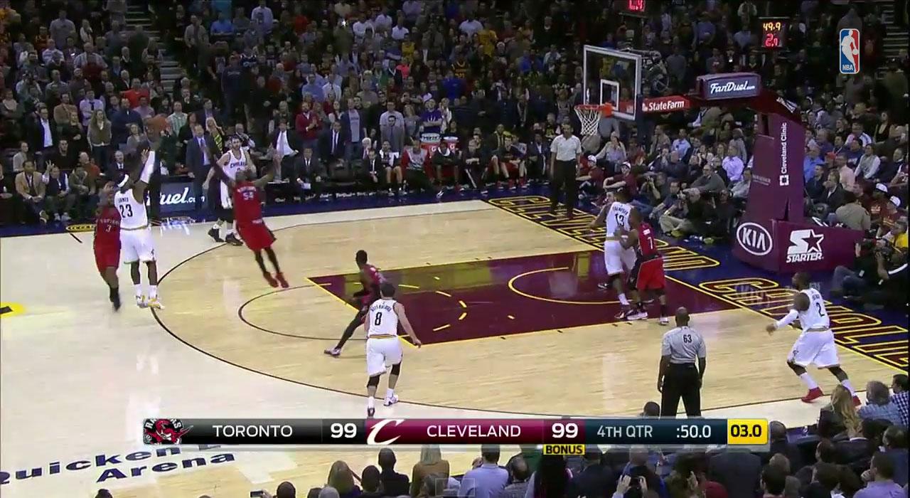 LeBron James hits the clutch triple