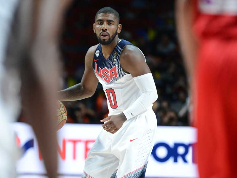 Kyrie Irving dribbling during FIBA World Cup