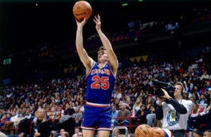 Mark Price of the Cleveland Cavaliers shooting the ball