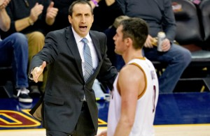 Kevin Love coached by David Blatt