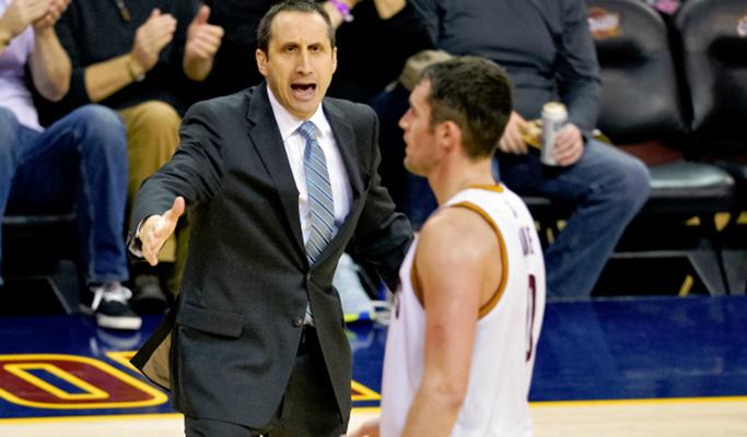 Kevin Love coached by David Blatt