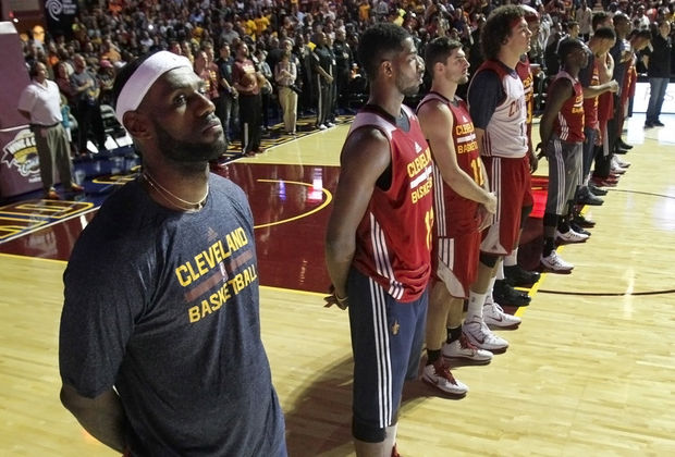 Cleveland Cavaliers warmups