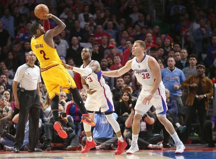 Kyrie Irving shooting vs. L.A. Clippers on January 16, 2015