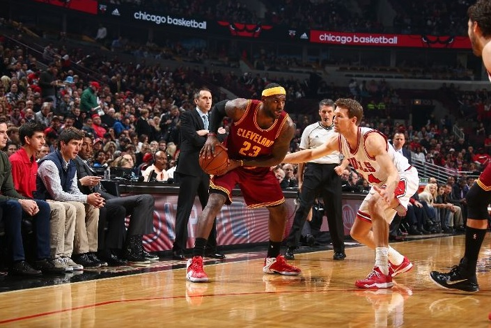 LeBron James against the Chicago Bulls on October 31, 2014