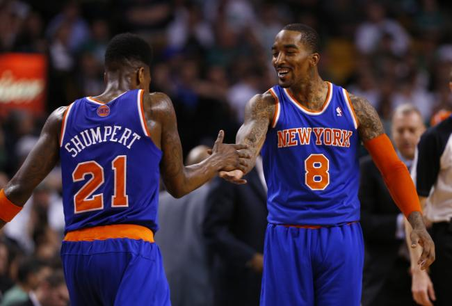 J.R. Smith and Iman Shumpert shaking hands