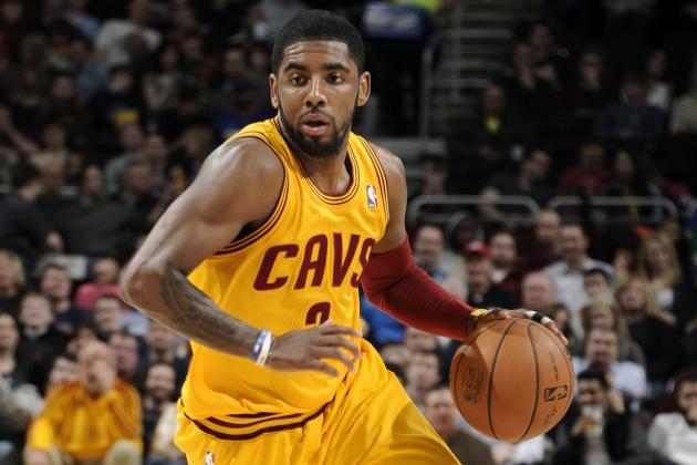 Kyrie Irving driving on the court