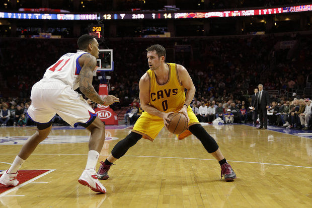 Kevin Love against the Philadelphia 76ers on January 5, 2015