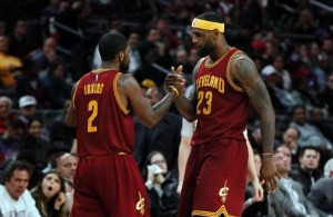 Kyrie Irving and LeBron James vs. Detroit Pistons on January 27, 2015