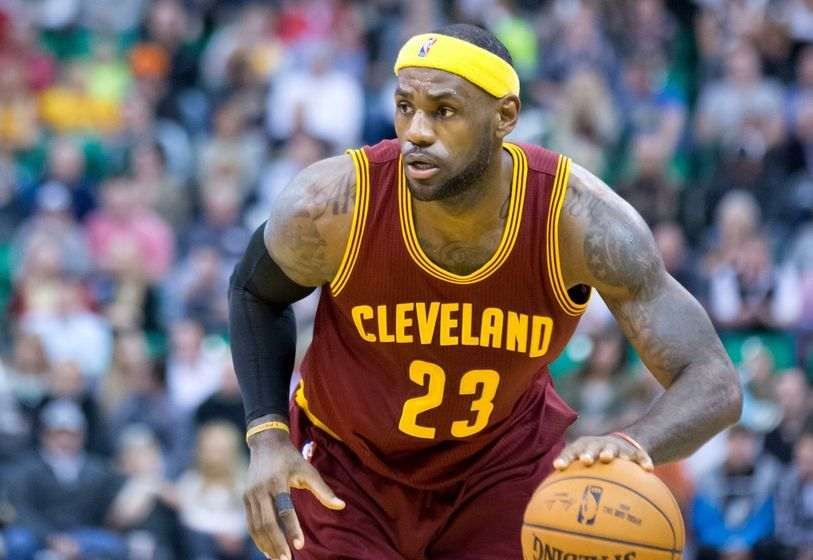 LeBron James in action