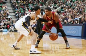 Kyrie Irving against Trey Burke
