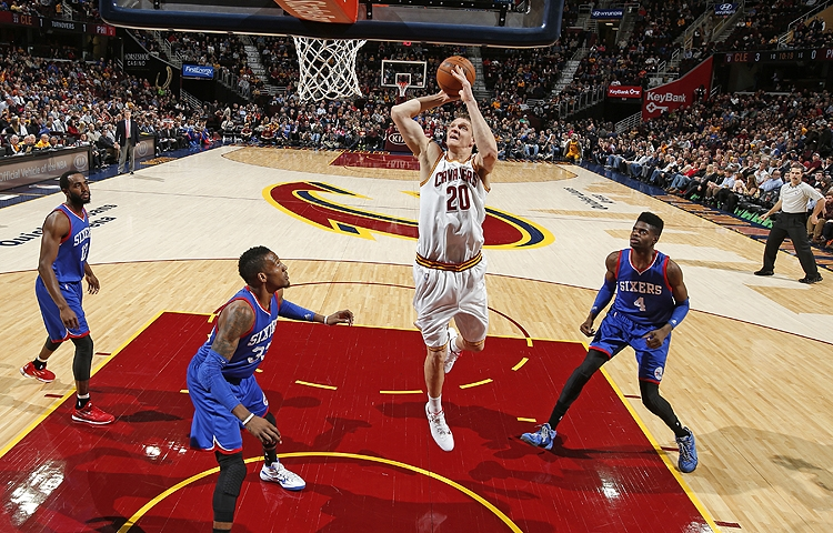 Timofey Mozgov of the Cleveland Cavaliers