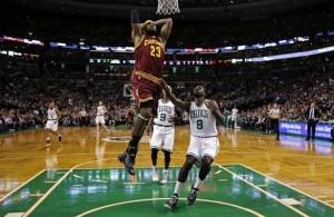 LeBron's dunk vs. Boston Celtics
