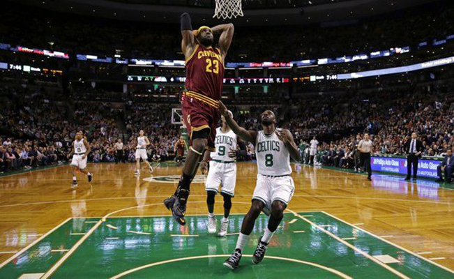 LeBron's dunk vs. Boston Celtics