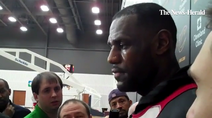 Video: LeBron Says 'I'll Come Off The Bench If It Helps Our Team'