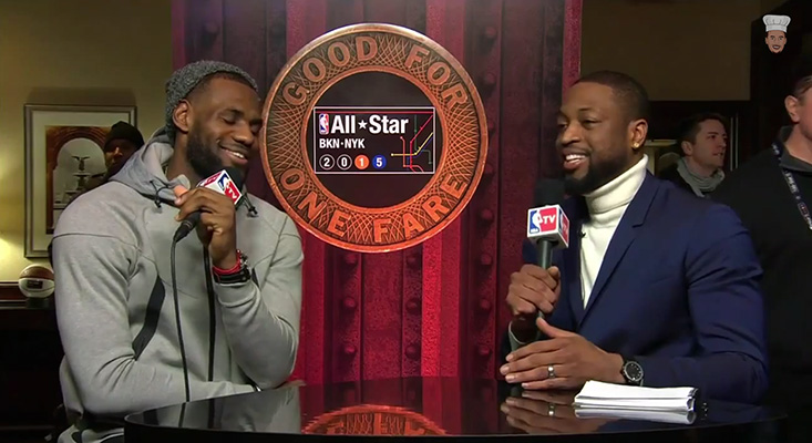 Video: Dwyane Wade Asks LeBron Why He's Never Entered the Dunk Contest