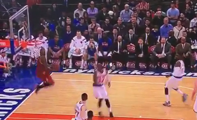 Video: J.R. Smith Throws Down the Wicked Reverse Alley-Oop