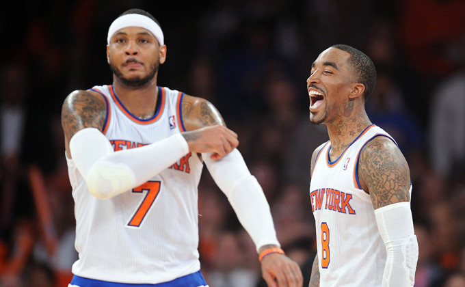 Carmelo Anthony and J.R. Smith