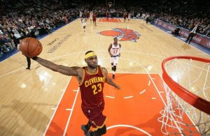 LeBron James vs. New York Knicks on February 22, 2015