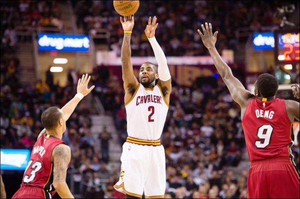 Kyrie Irving against the Miami Heat