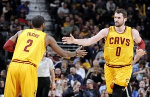 Kyrie Irving/Kevin Love vs. Brooklyn Nets on March 18, 2015