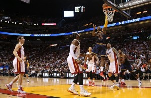 LeBron James vs. Miami Heat on March 16, 2015