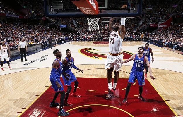 LeBron James vs. Philadelphia 76ers on March 29, 2015