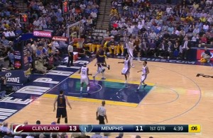 Video: LeBron James Elevates for the Vicious Two-Handed Rim Rocker