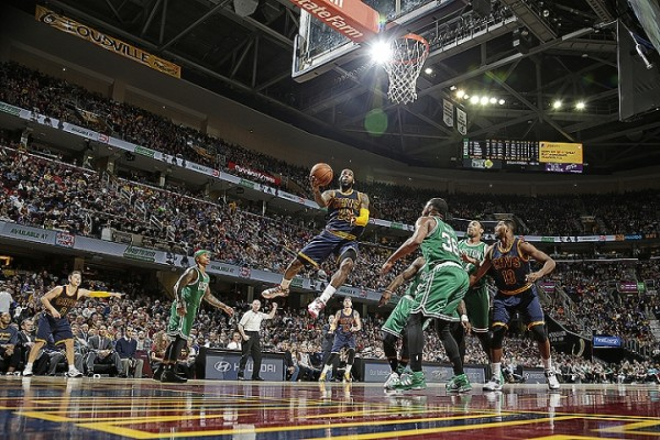 LeBron James vs. Boston Celtics on April 10, 2015