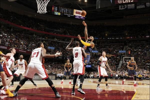 LeBron James vs. Miami Heat on April 2, 2015