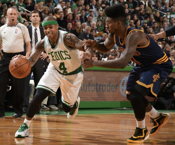 Iman Shumpert vs. Isaiah Thomas of the Boston Celtics