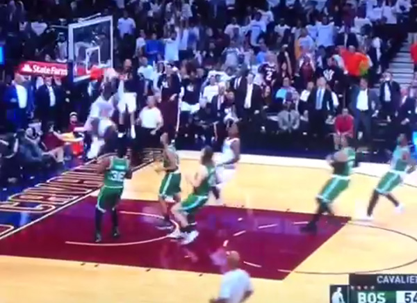 Video: LeBron James Soars to Throw Down the Alley-Oop from Kyrie Irving