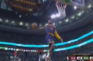 Video: LeBron James Throws Down the Epic Windmill
