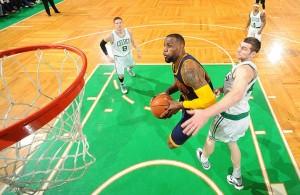 LeBron James against the Boston Celtics