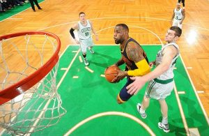 LeBron James against the Boston Celtics