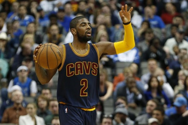 Kyrie Irving dribbling for Cleveland Cavaliers