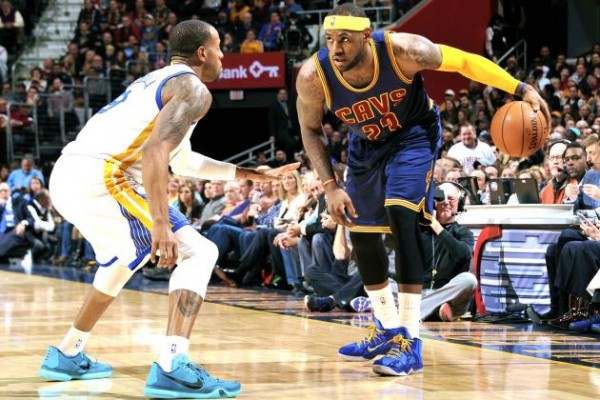 LeBron James against Andre Igoudala