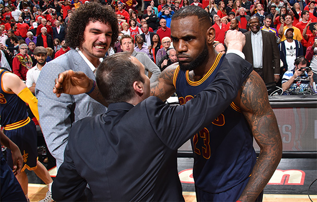 LeBron James and David Blatt on May 10, 2015