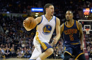 Klay Thompson and J.R. Smith on January 9, 2015
