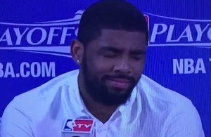 Video: Reporter Asks LeBron to Criticize Kyrie Irving While He's Sitting Right Next to Him