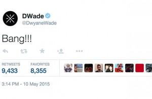 Dwyane Wade's reaction to LeBron's shot