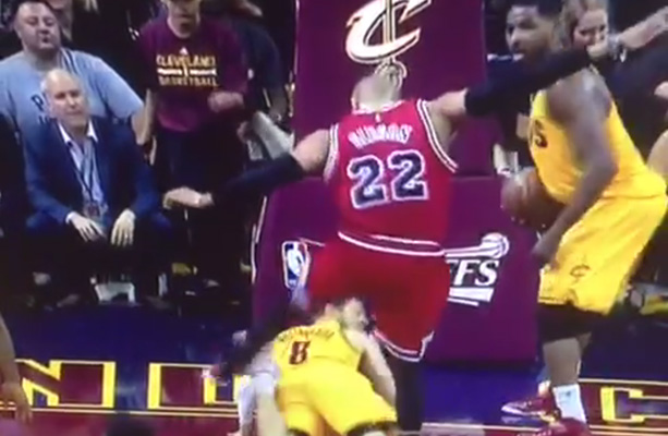 Video: Taj Gibson Kicks Matthew Dellavedova on the Ground